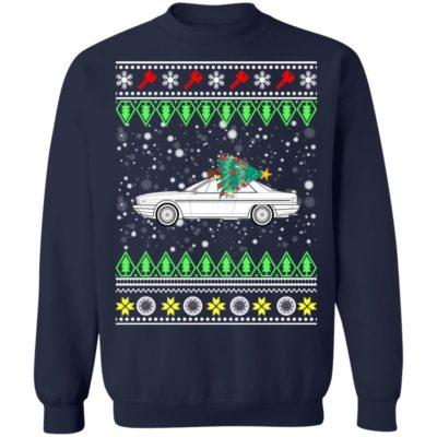 Lancia Gamma coupe Classic Car Ugly Christmas Sweatshirt