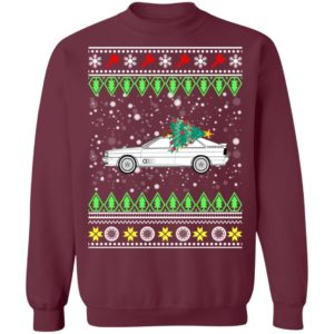 Quattro Sports Coupe Classic Car Ugly Christmas Sweatshirt