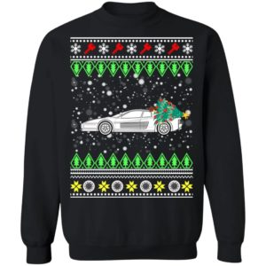Testarossa Classic Car Ugly Christmas Sweatshirt