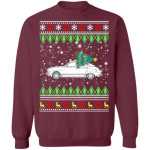 Saab 96 Classic Car Ugly Christmas Sweatshirt