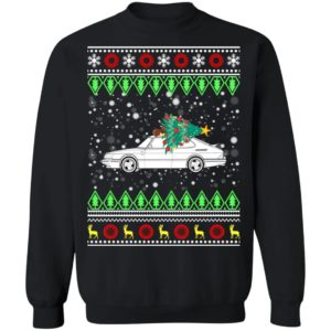 Saab 900 Turbo Classic Car Ugly Christmas Sweatshirt