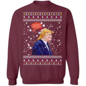 Bah Humbug Trump Ugly Christmas Sweater, Long Sleeve