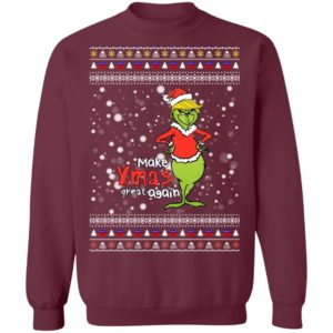 Make Xmas Great Again Trump Grinch Ugly Sweater