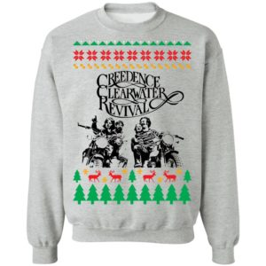 Creedence Clearwater Revival Band Ugly Christmas Sweater, Long Sleeve, Hoodie