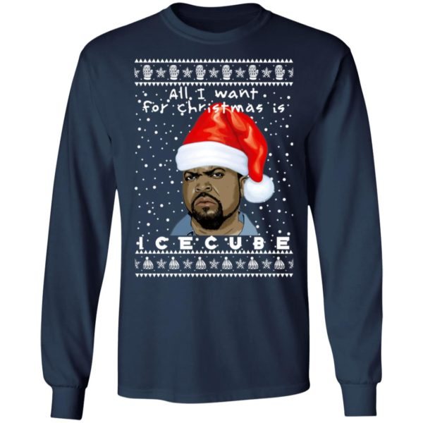 Ice Cube Rapper Ugly Christmas Sweater, Long Sleeve, Hoodie