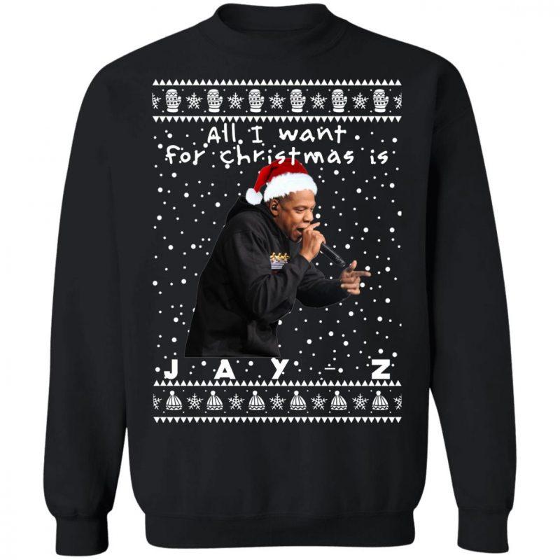 Jay-Z Rapper Ugly Christmas Sweater, Long Sleeve, Hoodie
