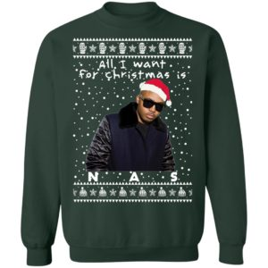 Nas Rapper Ugly Christmas Sweater, Long Sleeve, Hoodie