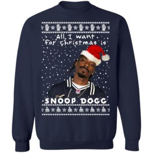 Snoop Dogg Rapper Ugly Christmas Sweater, Long Sleeve, Hoodie