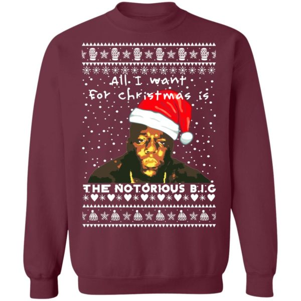 The Notorious B.I.G. Rapper Ugly Christmas Sweater, Long Sleeve, Hoodie