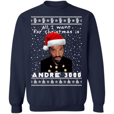 André 3000 Rapper Ugly Christmas Sweater, Long Sleeve, Hoodie