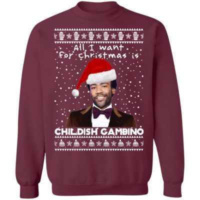 Childish Gambino Rapper Ugly Christmas Sweater, Long Sleeve, Hoodie