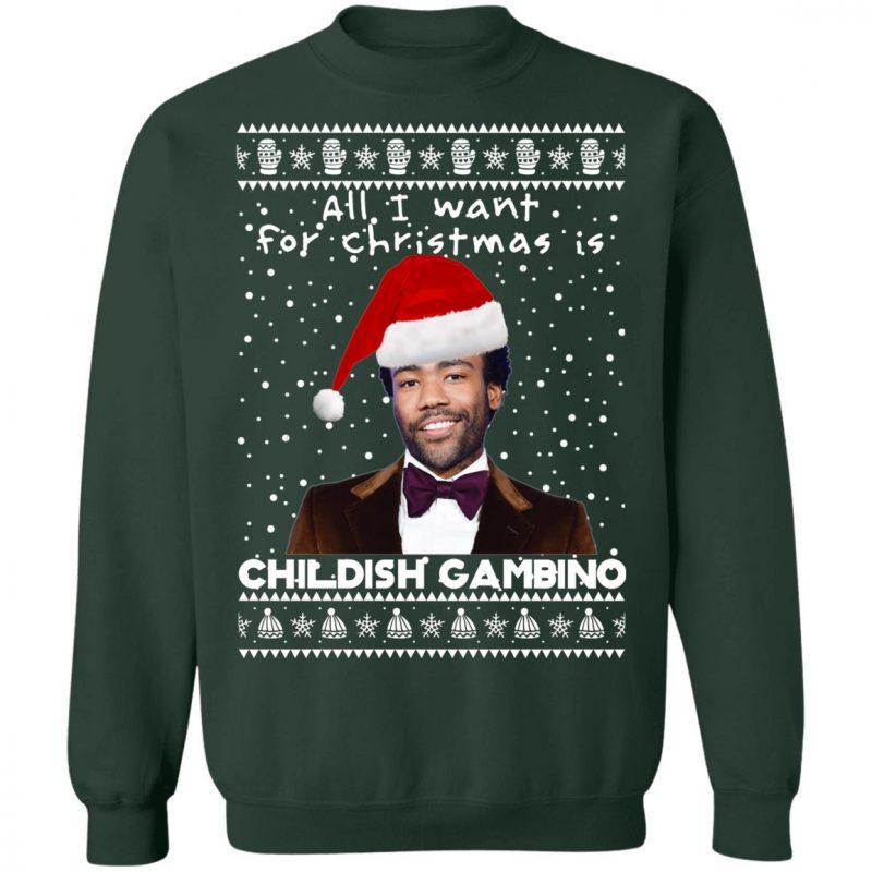 Childish Gambino Rapper Ugly Christmas Sweater, Long Sleeve, Hoodie