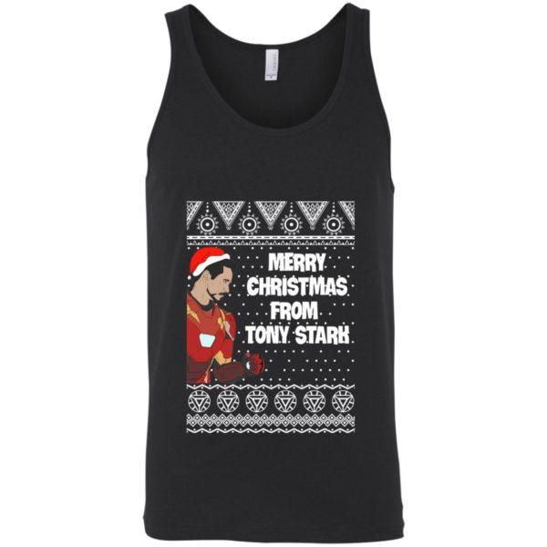 Tony Stark Iron Man Merry Christmas From Tony Stark Avengers Ugly Sweatshirt
