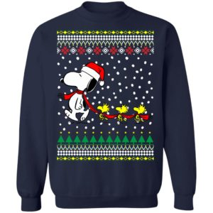 Snoopy and Woodstock Ugly Christmas Sweater, Long Sleeve, Hoodie