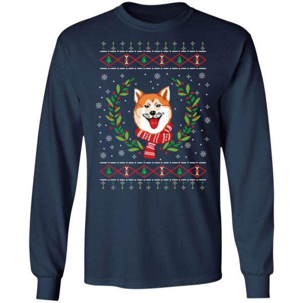 Akita Ugly Christmas Jumper T-Shirt, Long Sleeve, Sweater