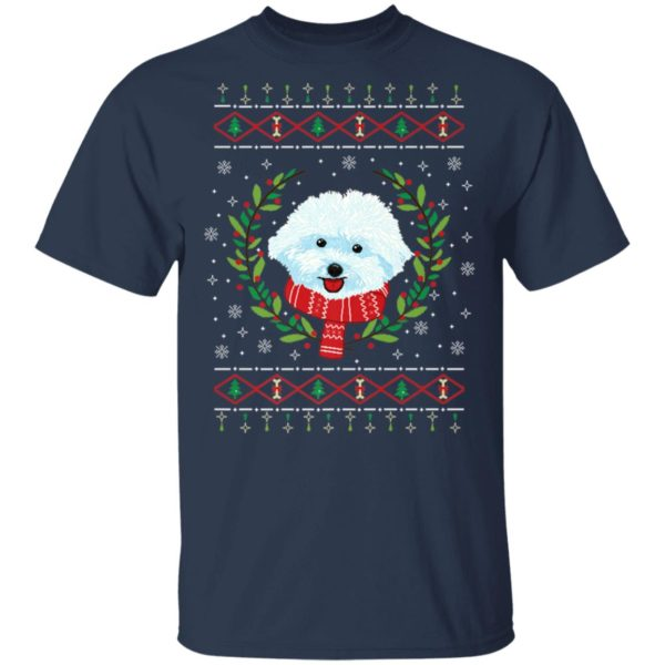 Bichon Frize Ugly Christmas Sweater, Long Sleeve, Hoodie