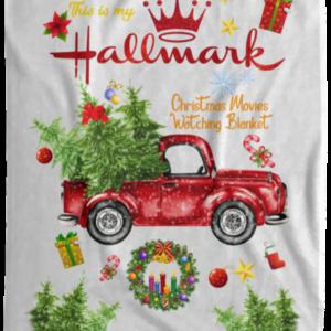Hallmark Blanket, This Is My Hallmark Christmas Movie Watching Blanket, Cozy Plush Fleece, Sherpa Blanket