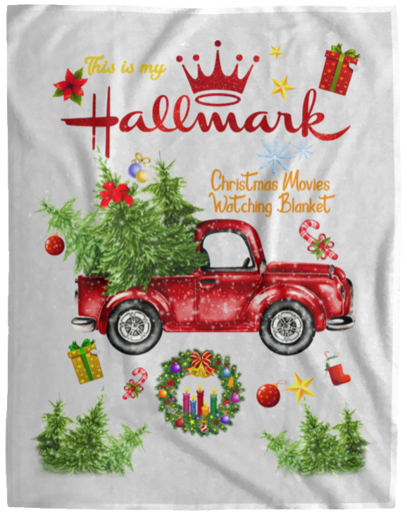 Hallmark Blanket, This Is My Hallmark Christmas Movie Watching Blanket, Cozy Plush Fleece, Sherpa Blanket