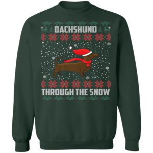 Dachshund Through The Snow Ugly Christmas Sweater