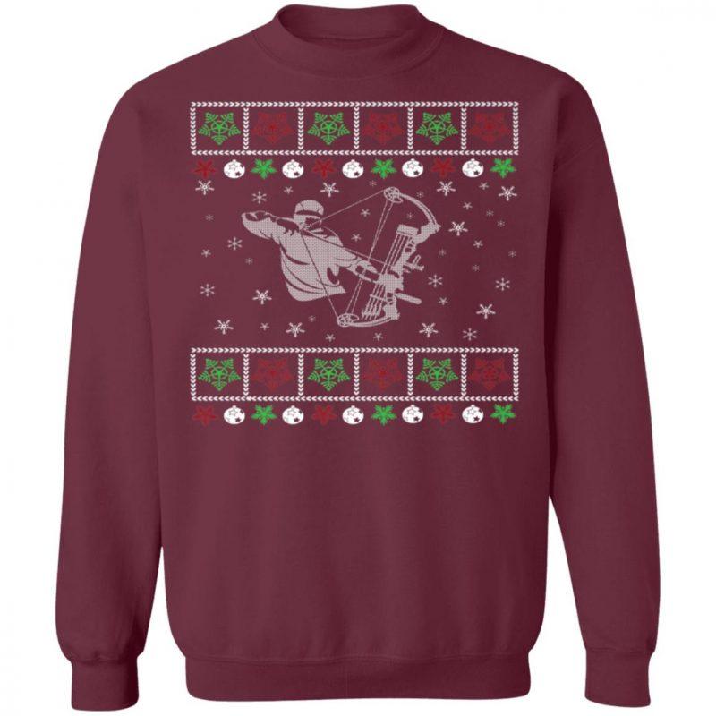 Funny Mens Bow Hunting Lover Ugly Christmas Sweatshirt
