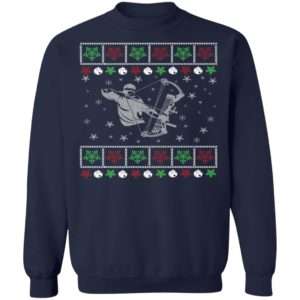 Funny Mens Bow Hunting Lover Ugly Christmas Sweatshirt