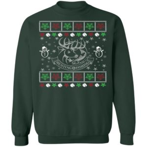 Funny Mens Hunting Fishing Lover Ugly Christmas Sweatshirt