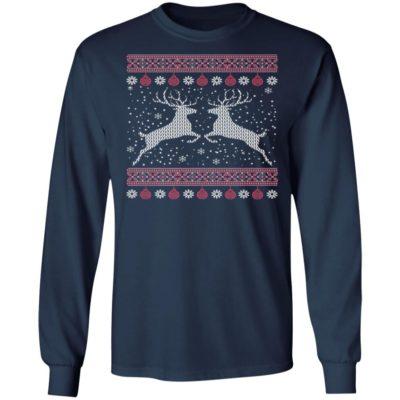 Funny Mens Hunting Lover Ugly Christmas Sweatshirt, long Sleeve, Hoodie