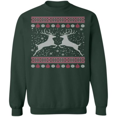 Funny Mens Hunting Ugly Christmas Sweater