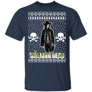The Walking Dead Carl Grimes Santa Hat Christmas Sweatshirt