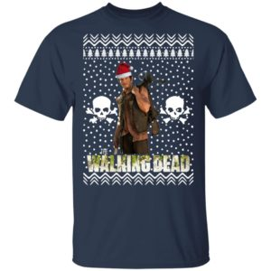 The Walking Dead Daryl Dixon Santa Hat Ugly Christmas Sweater