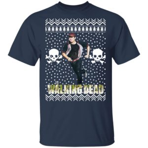 The Walking Dead Glenn Rhee Santa Hat Ugly Christmas Sweater
