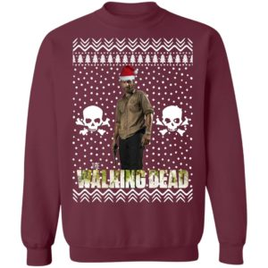 The Walking Dead Rick Grimes Santa Hat Christmas Sweatshirt