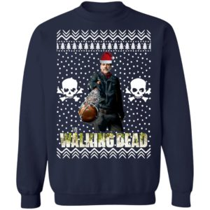 The Walking Dead Negan Santa Hat Christmas Sweatshirt