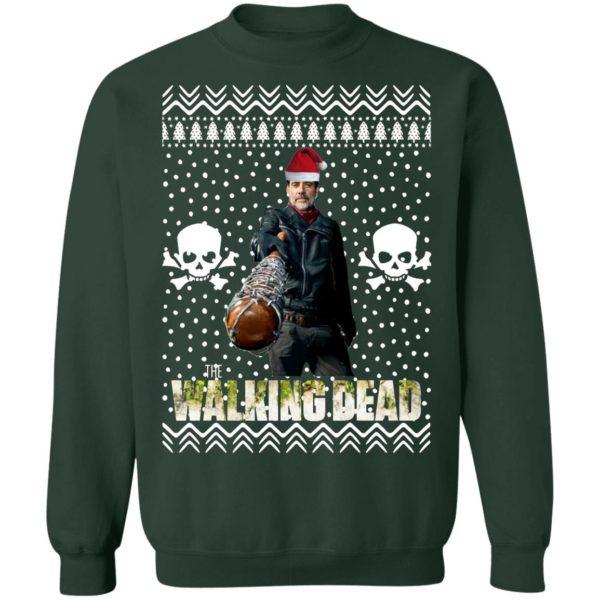 The Walking Dead Negan Santa Hat Christmas Sweatshirt