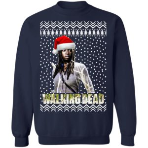 The Walking Dead Michonne Santa Hat Christmas Sweatshirt