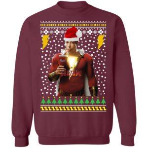 Shazam Santa Hat Ugly Christmas Sweater