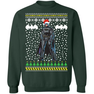 Batman Santa Hat Ugly Christmas Sweater