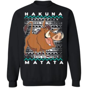 Disney Lion King Pumba Ugly Christmas Sweater