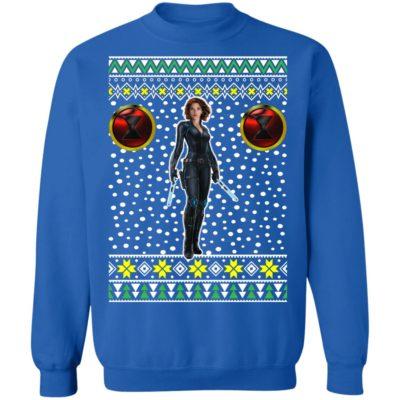 Black Widow Logo Ugly Christmas Sweatshirt