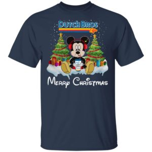 Mickey Mouse Drink Dutch Bros Merry Christmas Shirt Hoodie