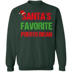 Santas Favorite Puerto Rican Funny Ugly Christmas sweater