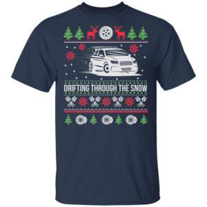 Drifting Through The Snow Car Ugly Christmas