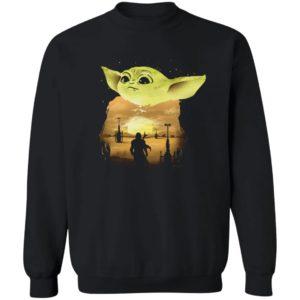 Baby Yoda Sunset