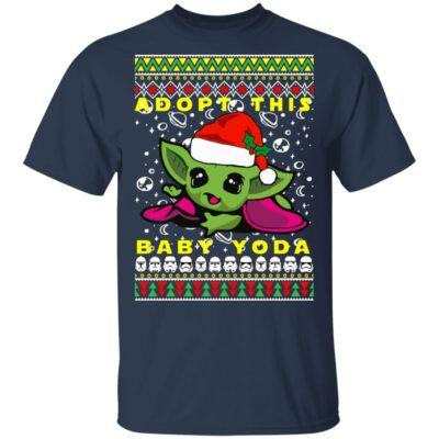 Adopt This Baby Yoda Santa Hat Ugly Christmas