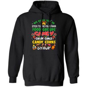 4 Main Food Groups Christmas Shirt, Sweater