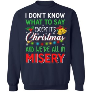 I don't know what to say, except it's Christmas sweater