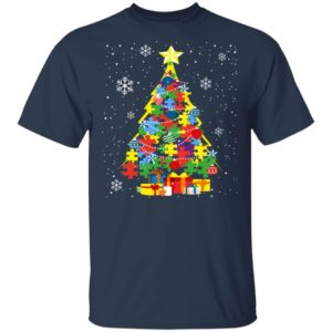 Autism Christmas Tree Christmas Shirt