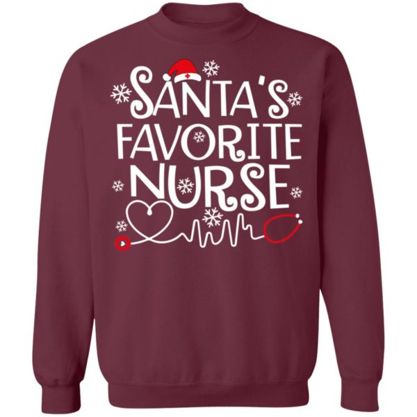 Santa favorite nurse christmas sweater