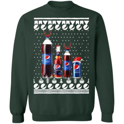 Pepsi Reindeer bottles and Can Funny Ugly Christmas Sweater, Hoodie