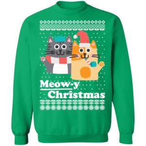 Cats Meowy Christmas Funny Ugly Christmas Sweatshirt